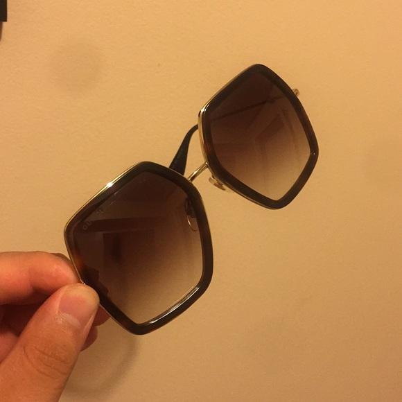 91a2587986c Gucci Accessories - Gucci Oversize square frame metal Sunglasses